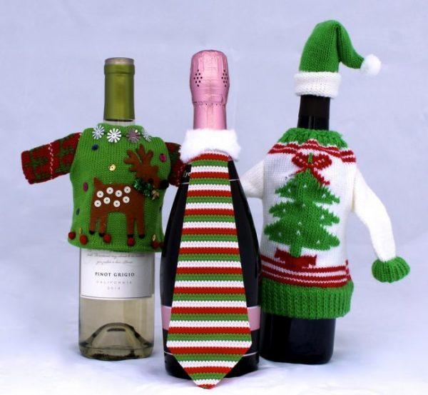 Оригинальное украшение бутылки