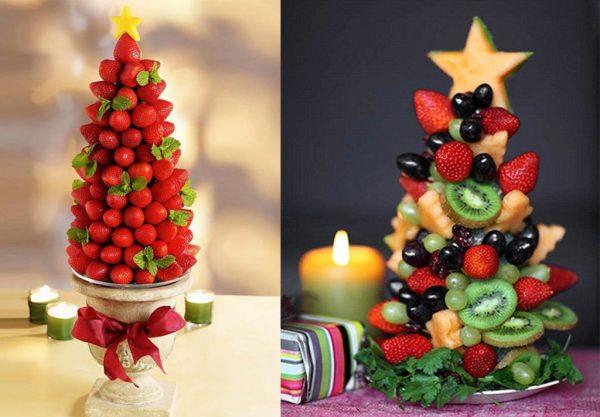 Оригинальная фруктовая елка