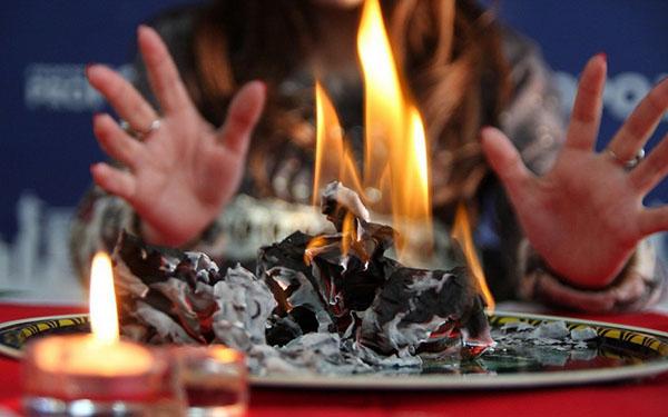 Гадание по сгоревшей газете