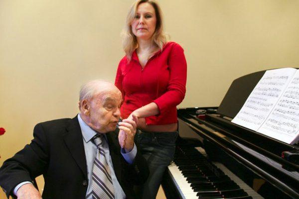 Владимир Шаинский со своей второй женой Светланой