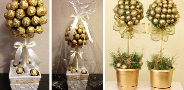 Новогоднее деревце из конфет