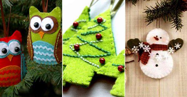 Какие игрушки из фетра можно сделать на Новый год