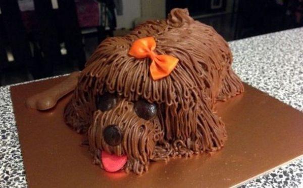 """Оригинальный торт """"Новогодняя собака"""""""