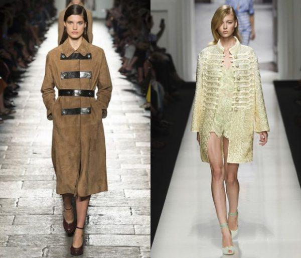 Женские пальто в стиле милитари