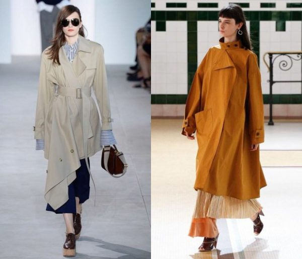Ассиметричные пальто