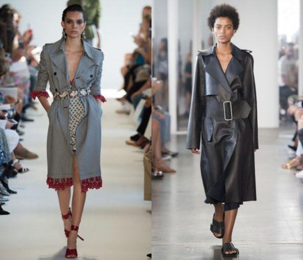 Модные пальто с ремнями и поясами
