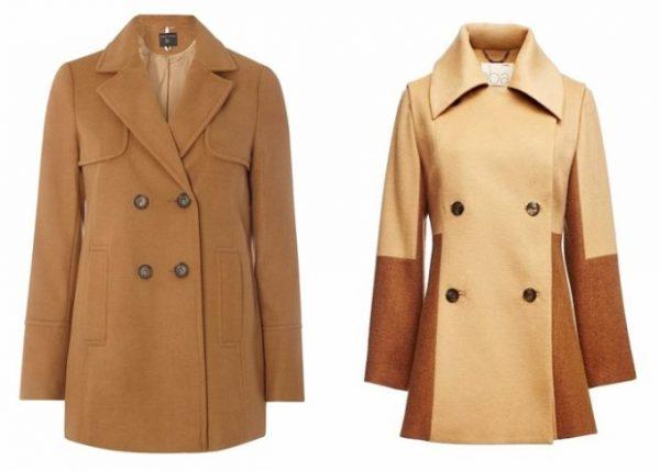 Двубортные женские пальто