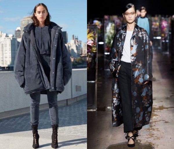 Необычные модели пальто