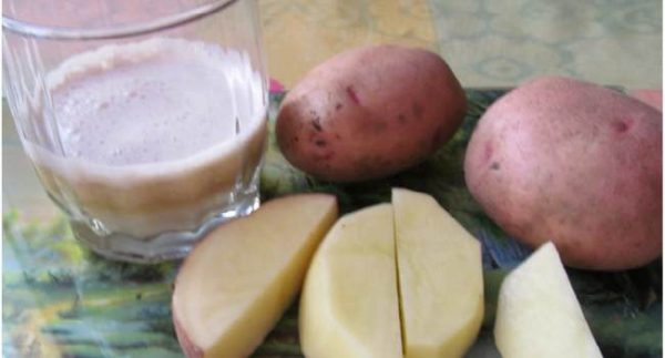 Сок из розового картофеля