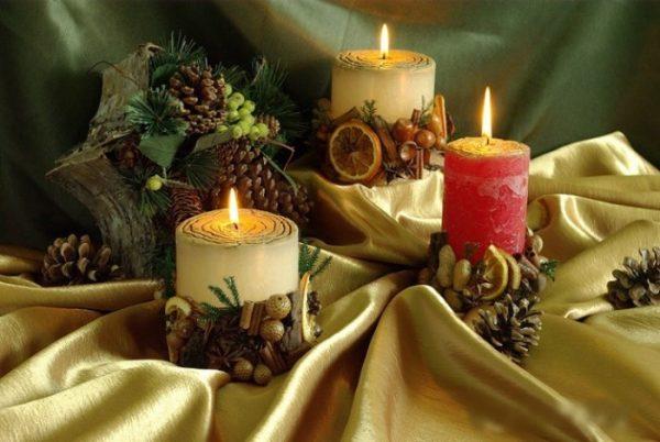 Свечи сделанные своими руками станут отличным подарком на Новый год