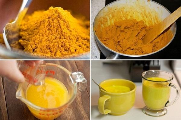 Как приготовить золотое молоко из куркумы