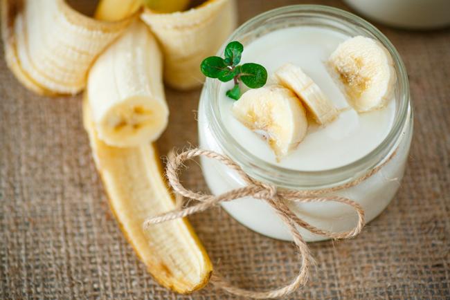 Творожок с бананом