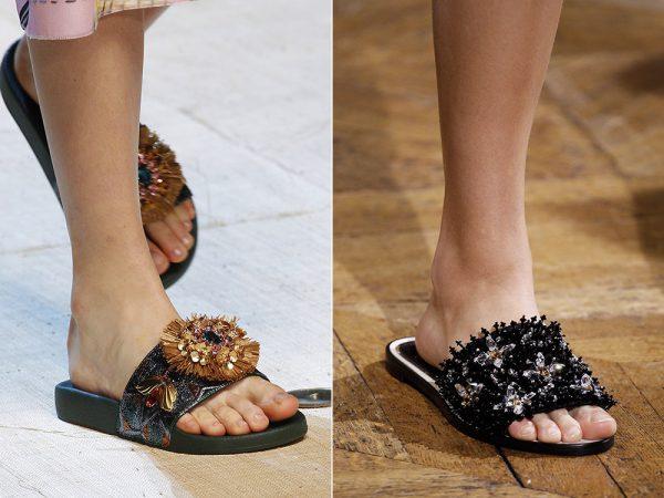 Модные тапочки