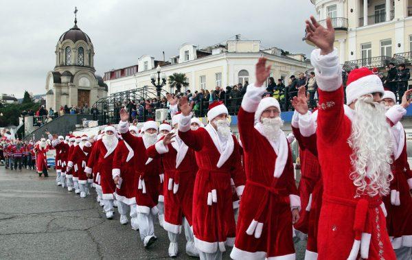 Мороз парад в Ялте