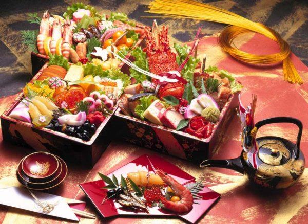 Блюда при праздновании Нового года в Японии