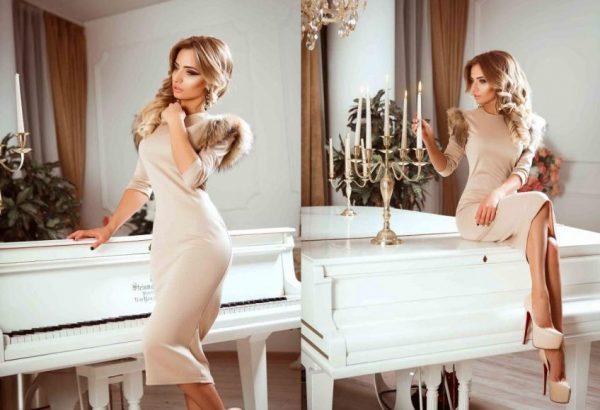 Элегантное платье для деловых женщин