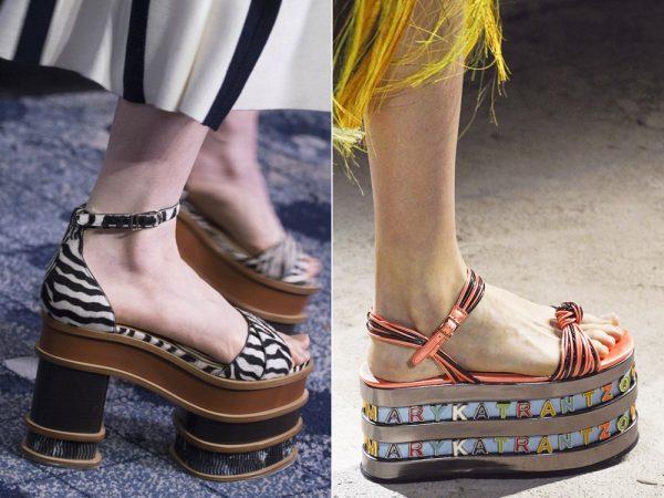 Женская обувь украшенная анималистичными принтами