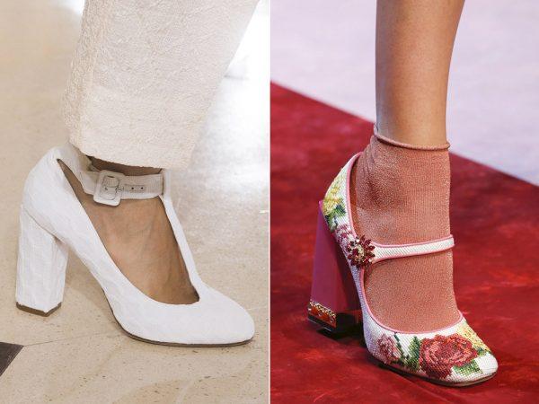 Женские туфли на квадратном каблуке
