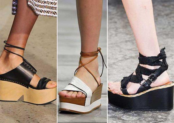 Летняя обувь на высокой платформе