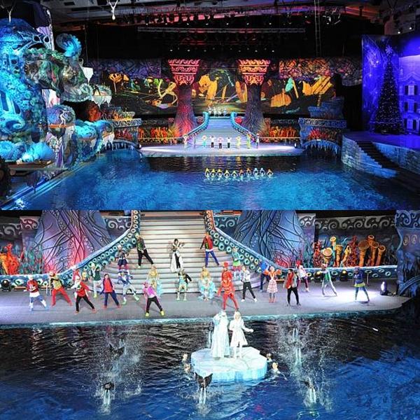 Шоу на воде в Олимпийском
