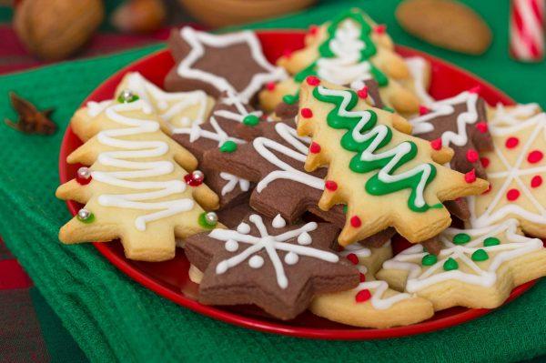 Оригинальное печенье новогодние елочки