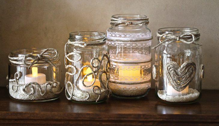 Новогодние фонарики-подсвечники