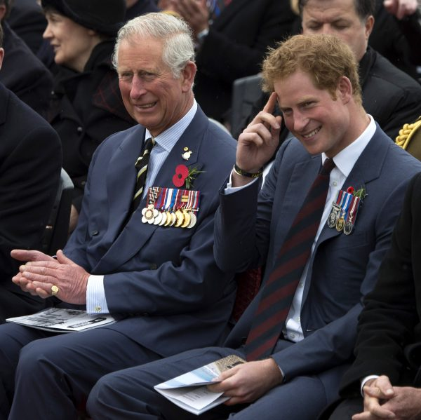 Принц Гарри со своим отцом