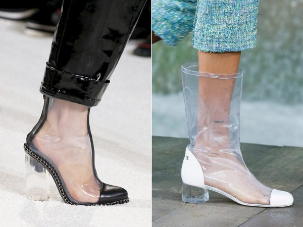 Модная прозрачная обувь 2018