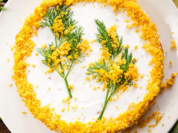 Салат творожная Мимоза
