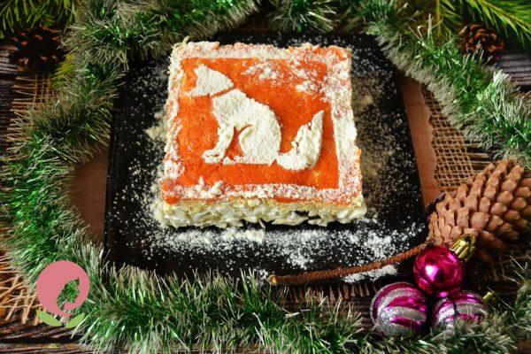 "Салат ""Собака"" на Новый год 2018"