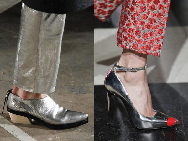 Женская обувь с блеском