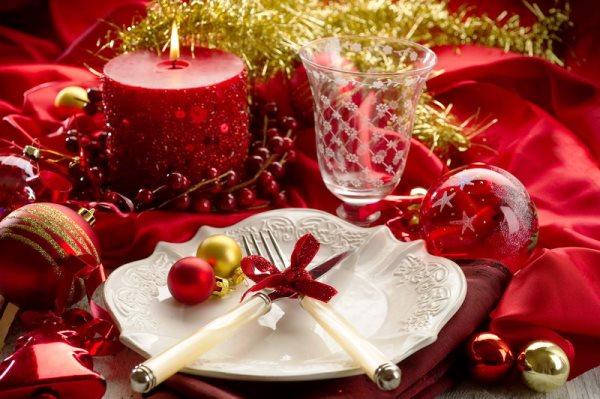 Сервировка стола на Новый год