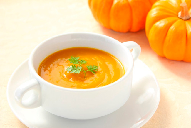 Суп-пюре с курицей, овощами