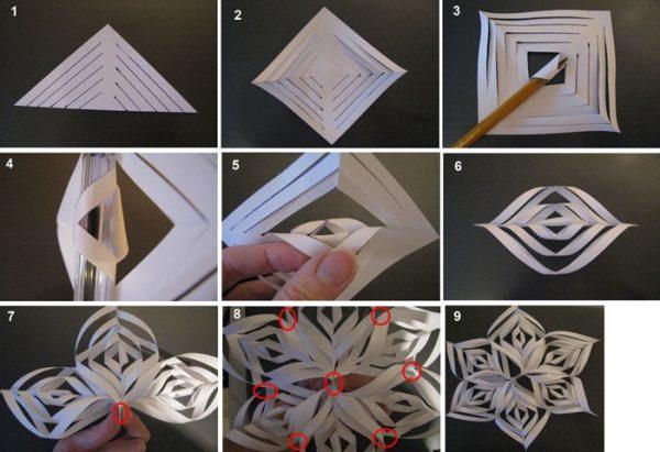 Снежинки на Новый год своими руками из бумаги: схемы, фото и советы по изготовлению