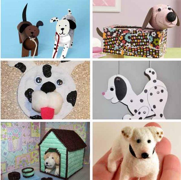 Разновидности собак из фетра