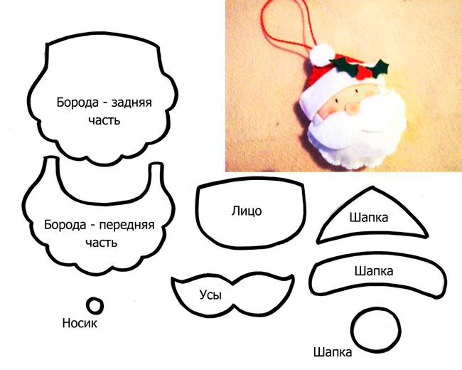 Шаблон Дедушки Мороза