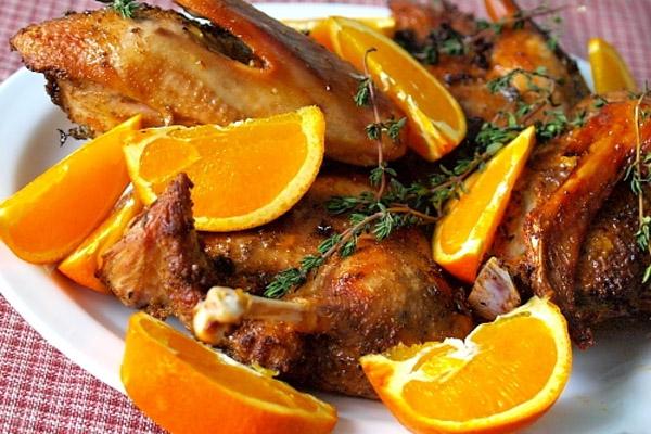 Утка запеченная с апельсинами