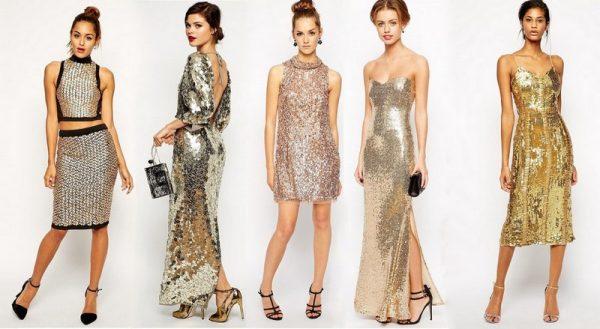 Нарядные платья с блестками