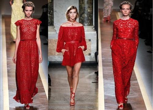 Вечерние платья насыщенных красных оттенков