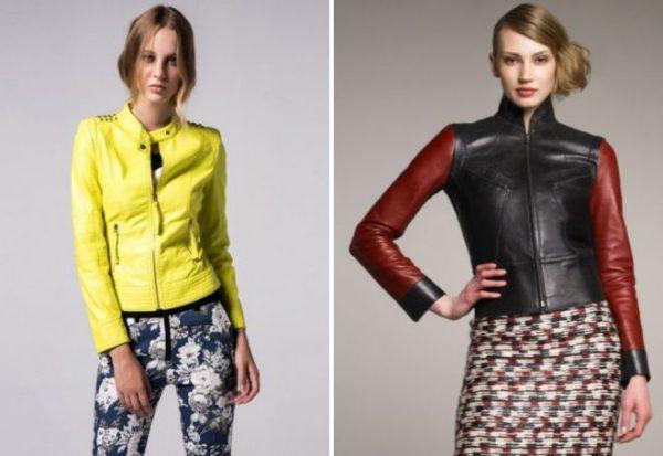 Разноцветные кожаные куртки