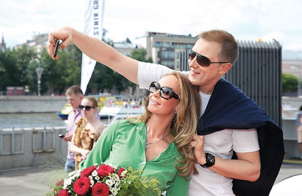 Со второй женой Полиной Невзоровой