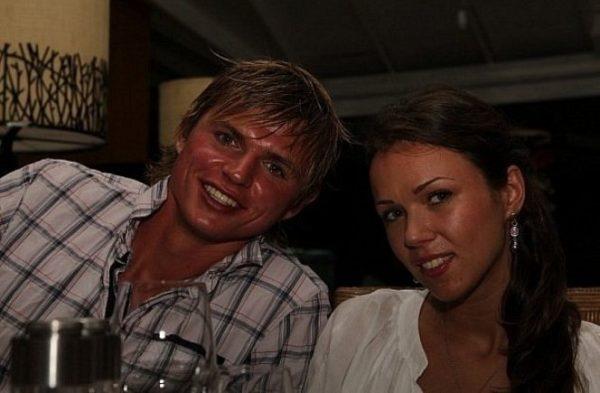 С первой женой Оксаной Пономаренко