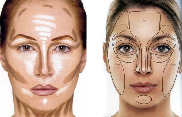 Контуринг лица тональным кремом