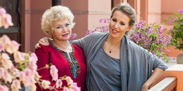 С дочерью Ксенией