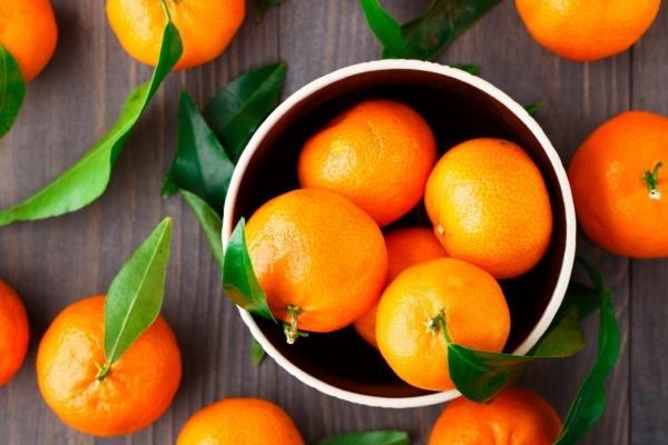 В мандаринах содержится большое количество витамина С