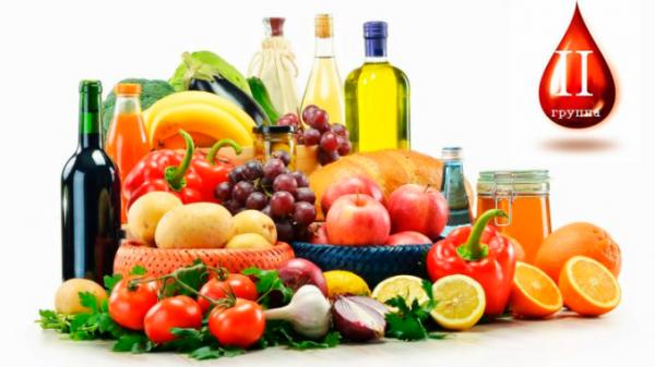 Разрешенные продукты, которые можно есть сидя на диете по 2 группе крови