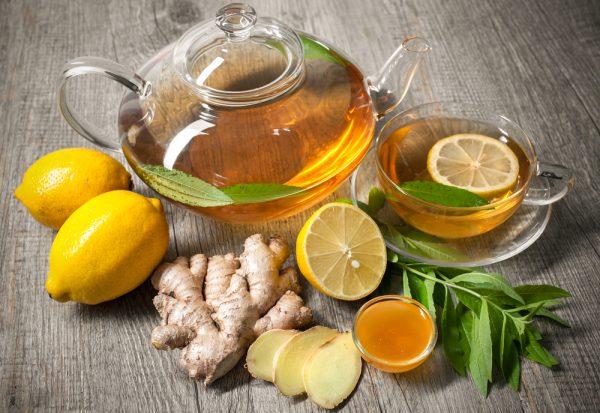 Чай с лимоном и имбирем