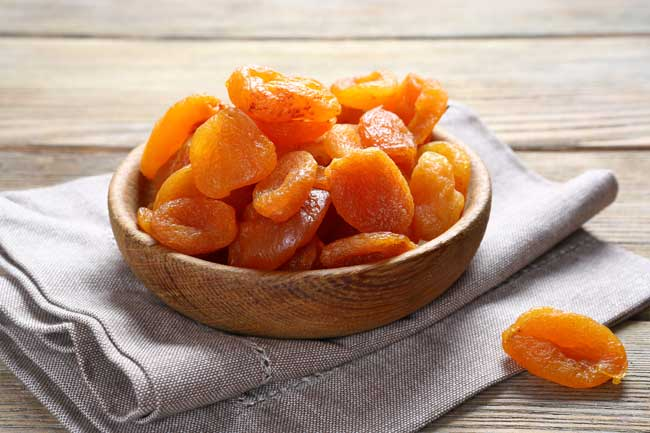 Курага содержит в себе витамин А
