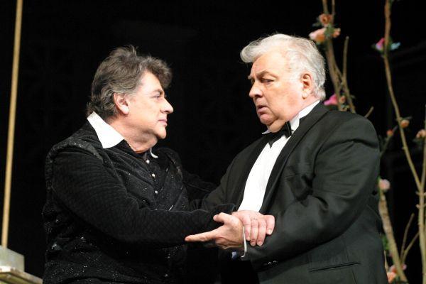 С Михаилом Ширвиндтом во время выступления