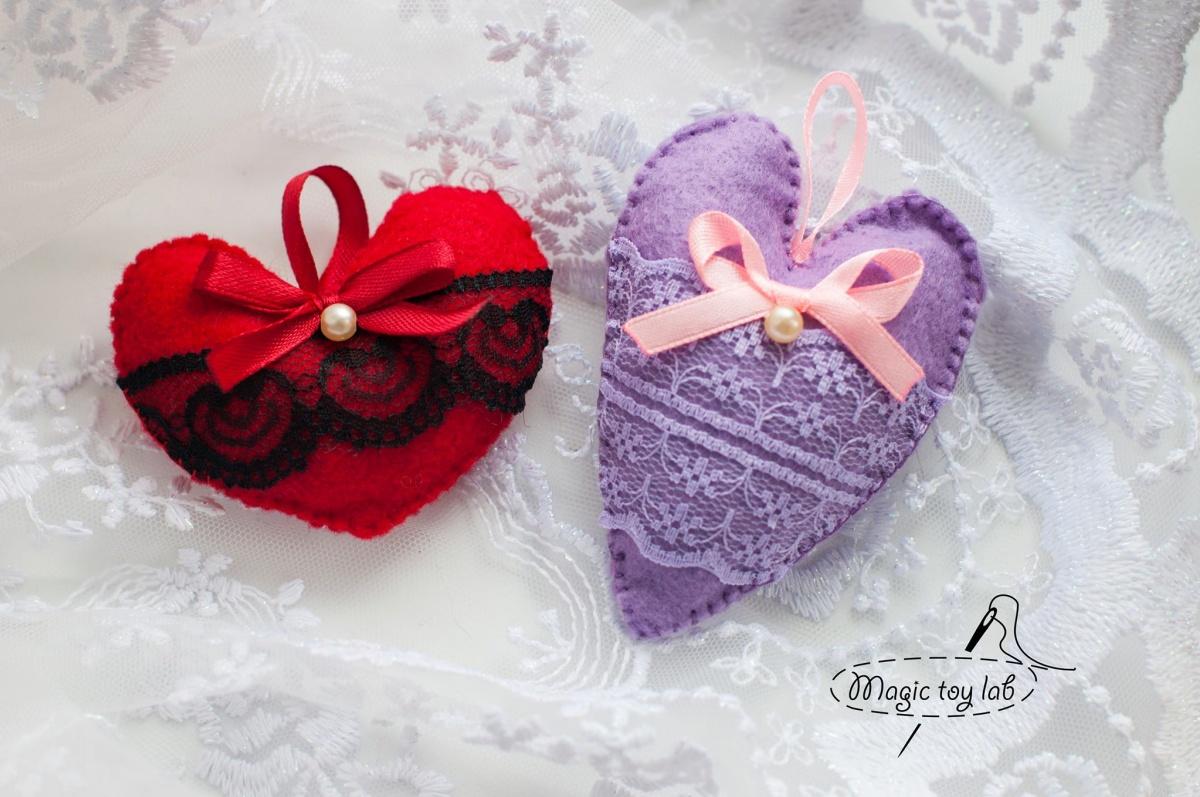 Как сшить валентинку из ткани